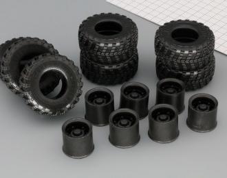 Резина, диски для КрАЗ 255, компл. из 7 колес