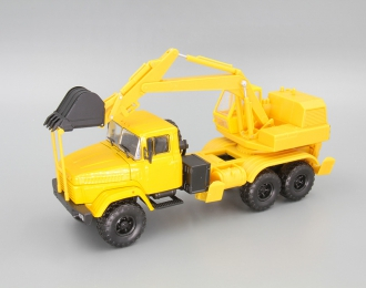 КРАЗ 6322 ЭО-4421 Экскаватор, желтый