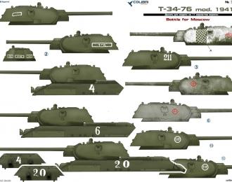 Декаль Советский средний танк Т-34 1941г.