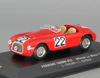 FERRARI 166M 22 Winner Le Mans (Luigi Chinetti -L.Seldson) 1949, red