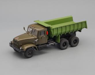 КРАЗ 256Б1 самосвал, хаки / зеленый