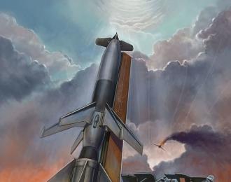 Сборная модель Немецкая пусковая установка с ракетой Rheintochter I