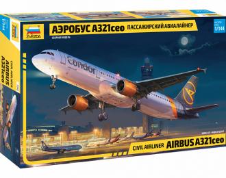 Сборная модель Пассажирский авиалайнер Аэробус А321сео