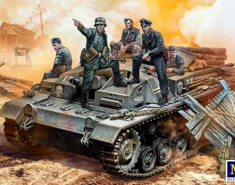 """Сборная модель """"Их позиция - за лесом"""". Экипаж немецкого Stug III. Вторая мировая"""