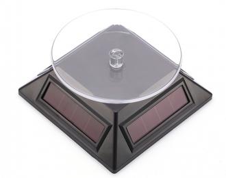 Подиум вращающийся на солнечных батареях (пирамида), черный
