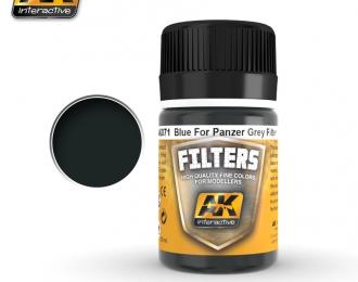 """Фильтр для нанесения эффектов BLUE FOR PANZER GREY FILTER (синийдля """"танкового серого"""")"""