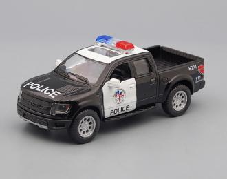 FORD F-150 SVT Raptor SuperCrew Police (2013), black / white