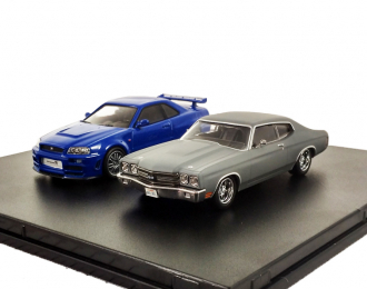 набор 1970 Chevrolet Chevelle SS 2002 Nissan Skyline GT-R (Fast & The Furious 2009)