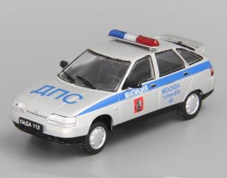 ВАЗ 2112 ДПС г. Москва, Автомобиль на службе 10, серебристый