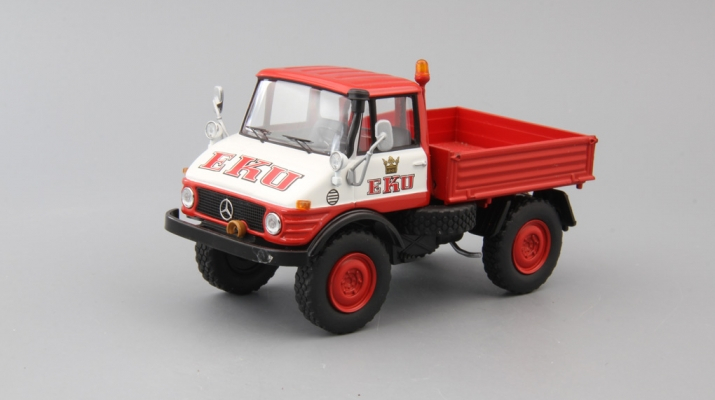 MERCEDES-BENZ Unimog 406 EKU, red / white