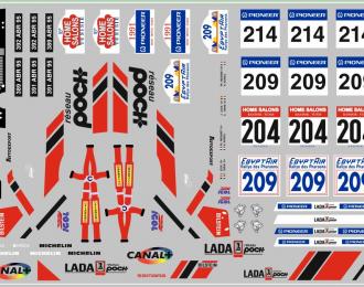 Набор декалей ВАЗ LADA спорт (вариант4) (100х70)