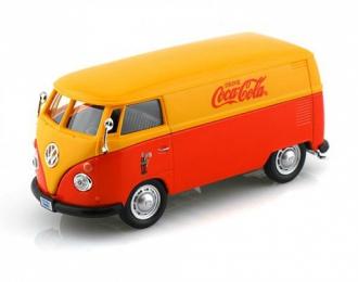 VOLKSWAGEN Transporter T1 Coca-Cola (1962), красный / желтый