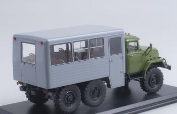ЗИЛ 131 вахтовый автобус, хаки / серый