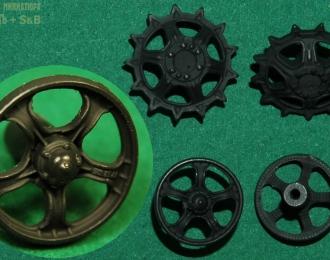 Ведущие и направляющие колёса для моделей ДТ-75 (№12)