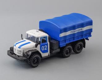 ЗИЛ 131 Полиция, белый / синий + световые и звуковые эффекты