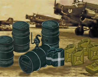 Сборная модель WWII German Jerry Can & Fuel Drum