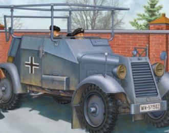 Сборная модель Немецкая бронированная машина связи German Adler Kfz.14 Radio Car