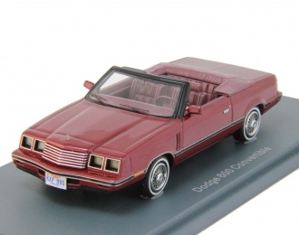 DODGE 600 Convertible (1984), red metallic