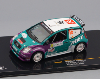 CITROEN C2 S1600 46 13th Rally Jordan (S.Gallagher - P.Kiely) 2008, green / purple