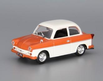 TRABANT P50 Limousine, Kultowe Auta 86, orange / white