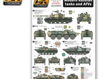 Modern Russian Tanks and AFVs (декали для современных российскихтанков и бронемашин)