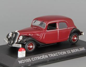 CITROEN Traction 22 Berline (1934), dark red / black