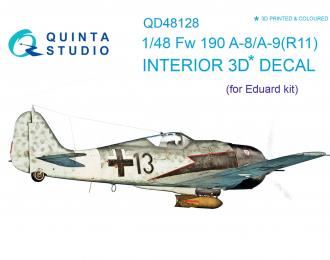 3D Декаль интерьера кабины Fw 190 A-8/A-9 (R11) (для модели Eduard)