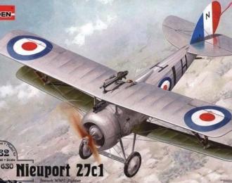 Сборная модель Самолет-биплан Nieuport Ni-27c1