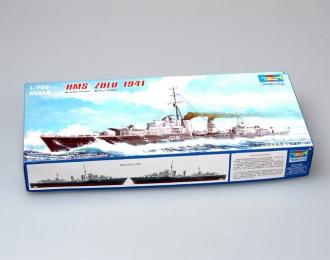 Сборная модель Британский эсминец HMS Zulu (F18) (1941г.)