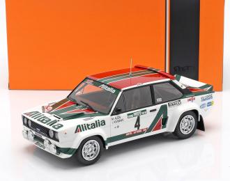 """FIAT 131 Abarth #4 """"Alitalia"""" Alen/Kivimaki Rally Portugal (1978), white"""