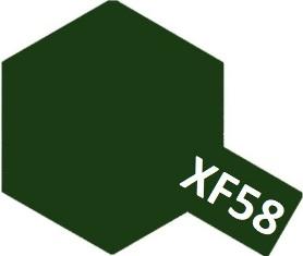XF-58 Olive Green (краска акриловая, оливково-зеленый матовый), 10мл.