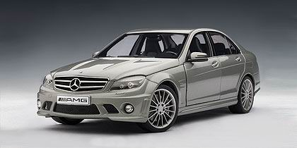 MERCEDES-BENZ C63 AMG, grey with leather seats