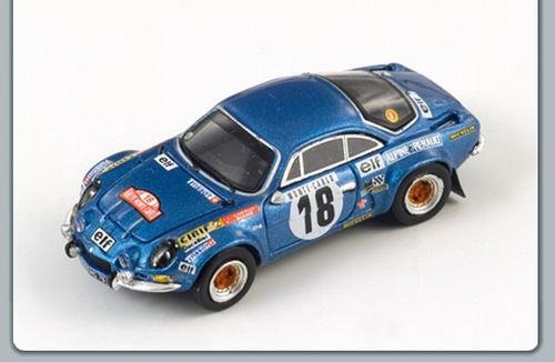 Andruet//Petit Kyosho Alpine A110 1800S #18 Winner Monte Carlo 1973 1//18