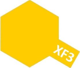 XF-3 Flat Yellow (краска акриловая, желтый матовый), 10мл.