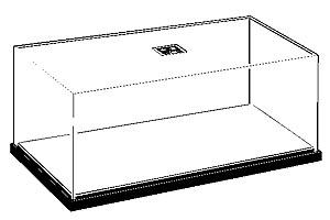 Прозрачный бокс P 280х130х90мм с черной подставкой