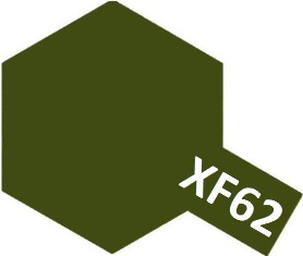 XF-62 Olive Drab (краска акриловая, темно-оливковый (Land-Lease USA) матовый), 10мл.