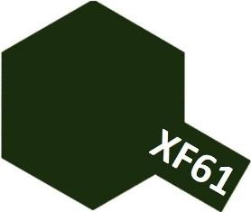 XF-61 Dark Green (краска акриловая, темно-зеленый матовый), 10мл.