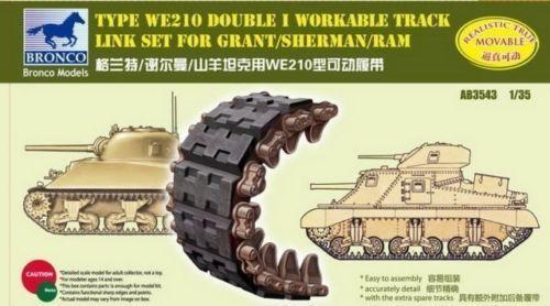 Сборная модель Type WE210 Double I workable track linkset for Sherman/Grant/Ram
