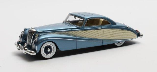 DAIMLER DE36 FHC Blue Clover Hooper 1953 Metallic Blue