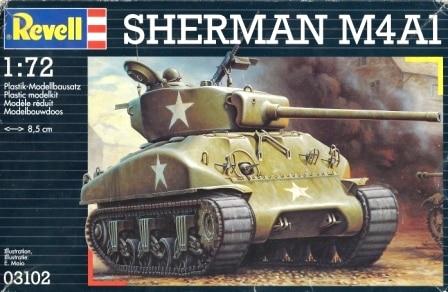 Сборная модель Американский танк M4A1 Sherman