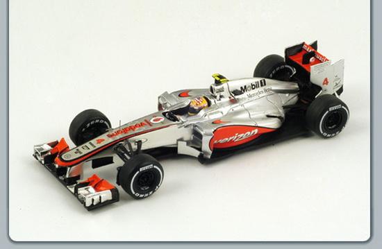 McLAREN MP4-27 4 Winner US GP (Lewis Hamilton) 2012, silver
