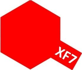 XF-7 Flat Red (краска акриловая, красный матовый), 10мл.